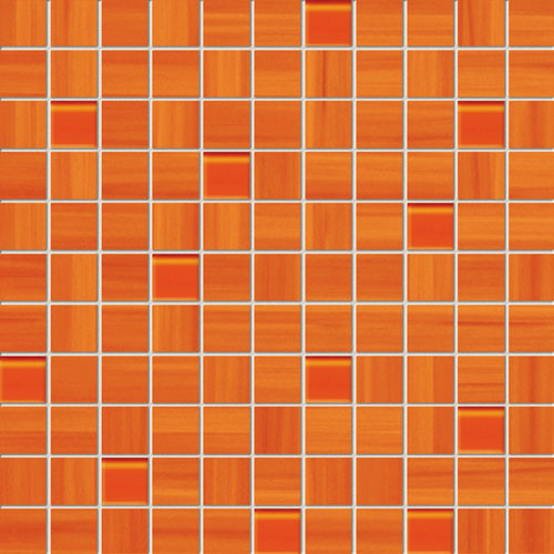 Wave Orange Wandmosaik
