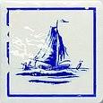 Majolika Haga 1B Wanddekor 115x115 mm