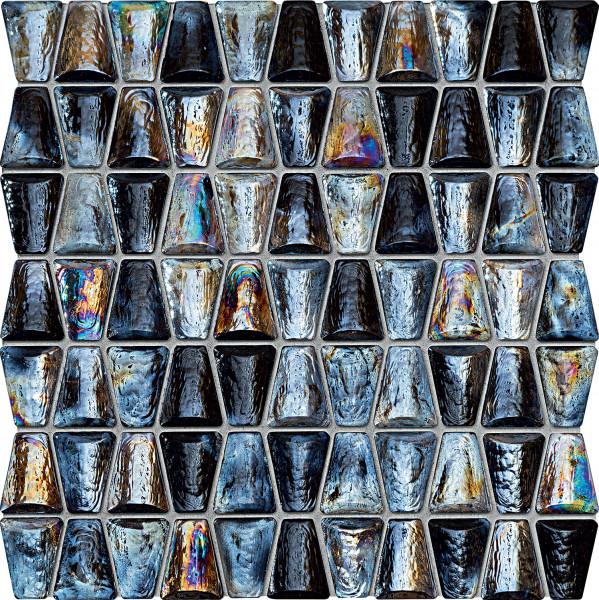 Elements Drops Glass Grey Wandmosaik