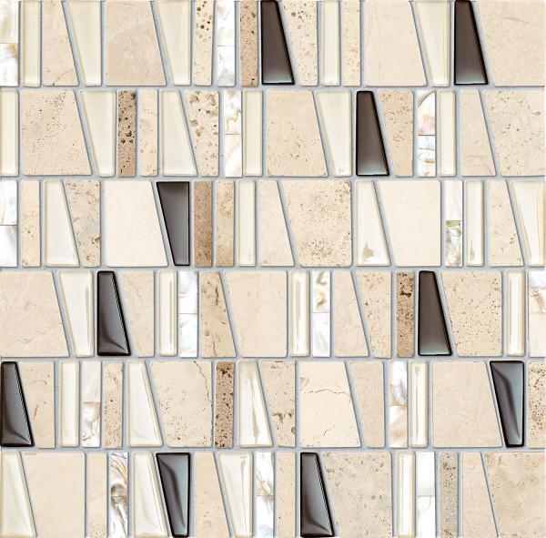 Elements Drops Stone Beige Wandmosaik