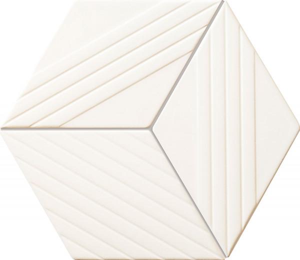 Colour White Wandmosaik