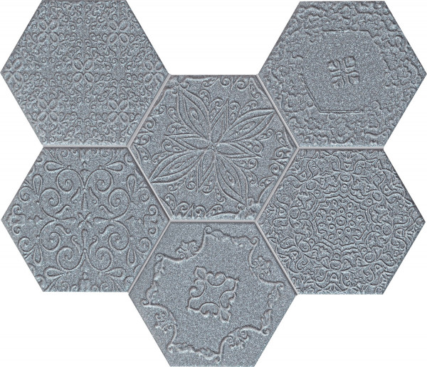 Elements Lace Graphite Wandmosaik
