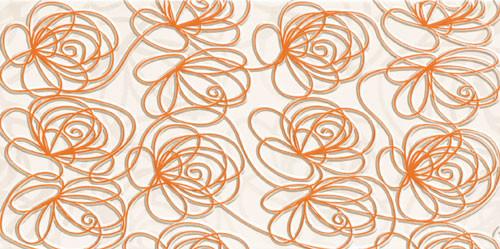 Wave Modern Orange Wanddekor