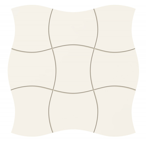 Royal Place White Wandmosaik 293x293 mm
