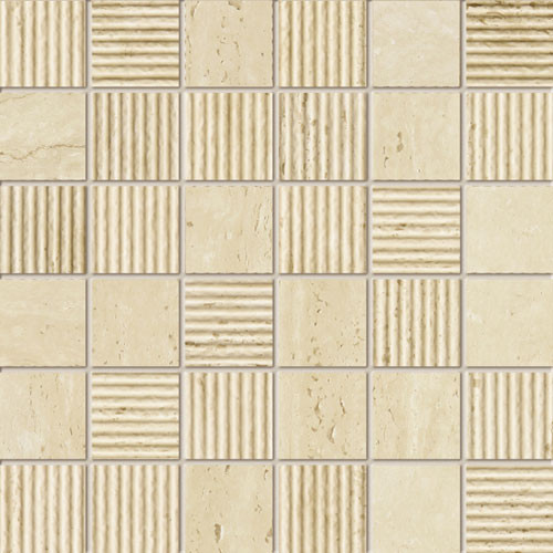 Livingstone Travertine 2A Feinsteinzeug Mosaik