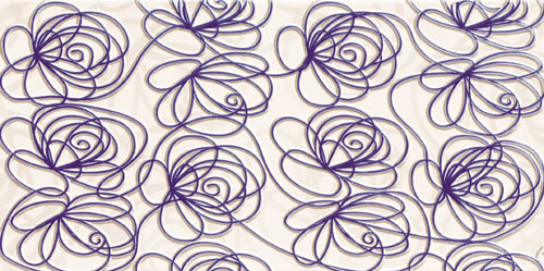 Wave Modern Violet Wanddekor