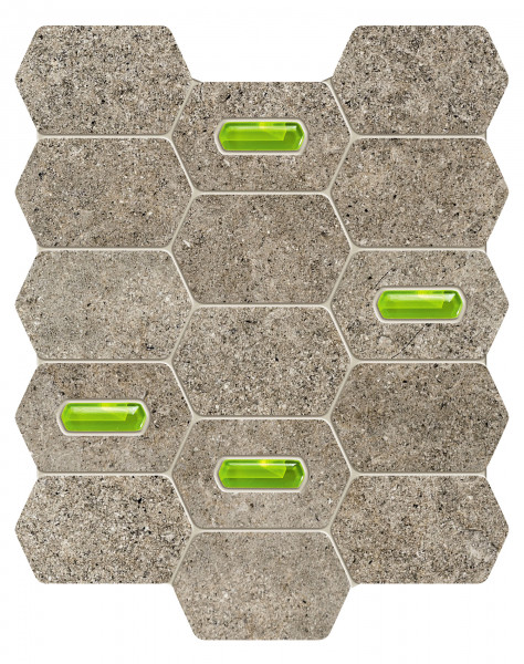 Elements Lemon Stone Grey Wandmosaik