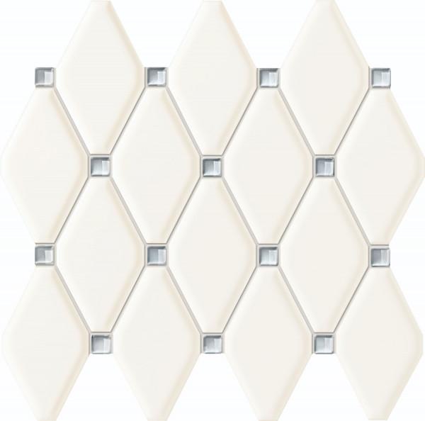 Abisso White Wandmosaik