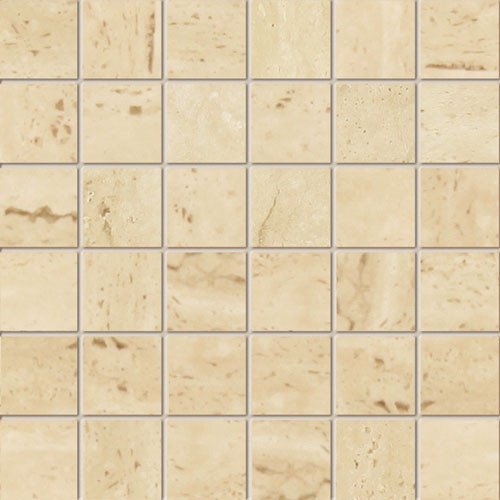 Livingstone Travertine 1A Feinsteinzeug Mosaik