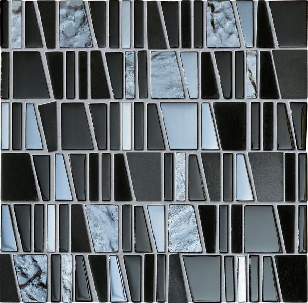 Elements Drops Stone Grey Wandmosaik