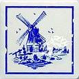 Majolika Haga 1A Wanddekor 115x115 mm