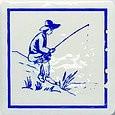 Majolika Haga 1D Wanddekor 115x115 mm